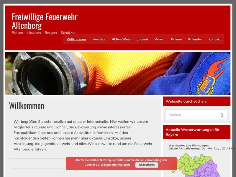 Screenshot von www.ffw-altenberg.de